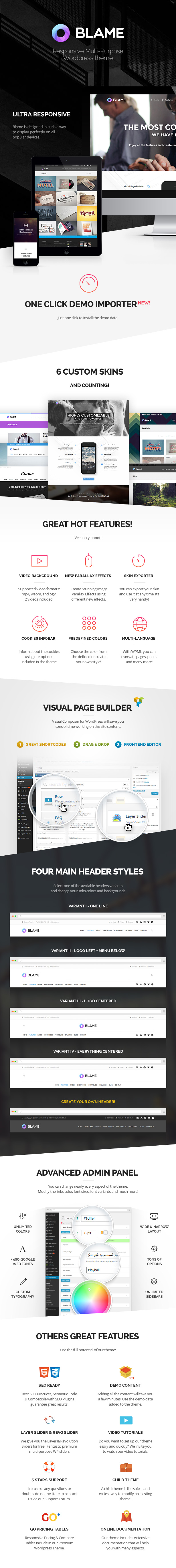Blame - Responsive MultiPurpose WordPress Theme