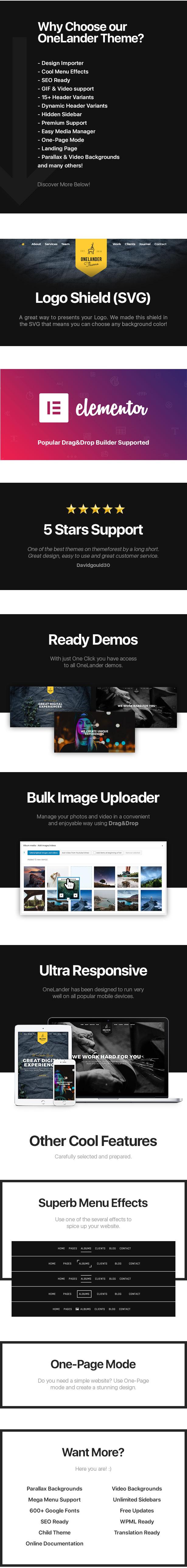 OneLander | Creative Landing Page WordPress Theme - 2