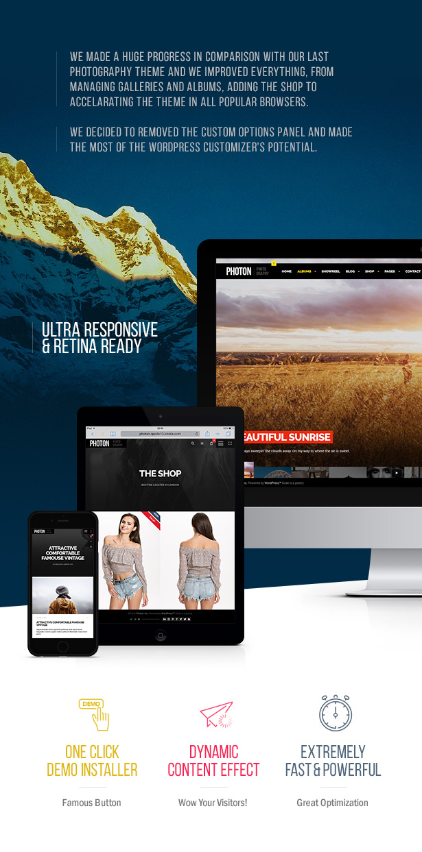 Photon | Fullscreen Photography WordPress Theme