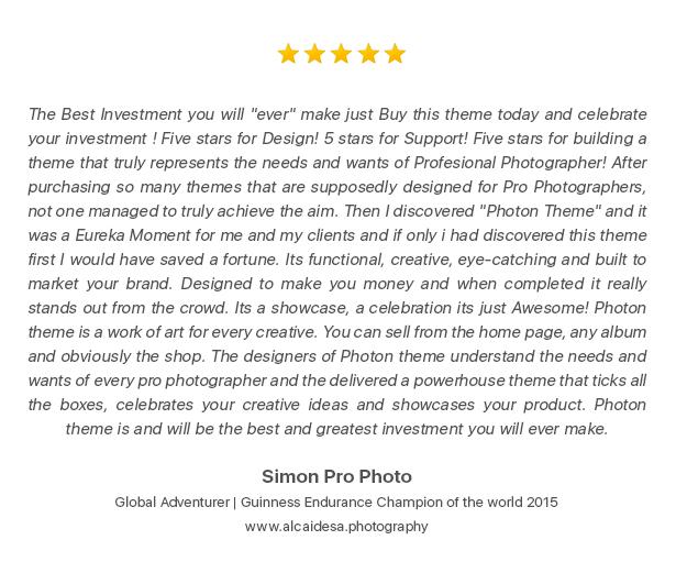 Photon | Fullscreen Photography WordPress Theme - 3
