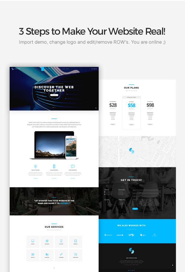 Starter | Business One-Page WordPress Theme, Gobase64